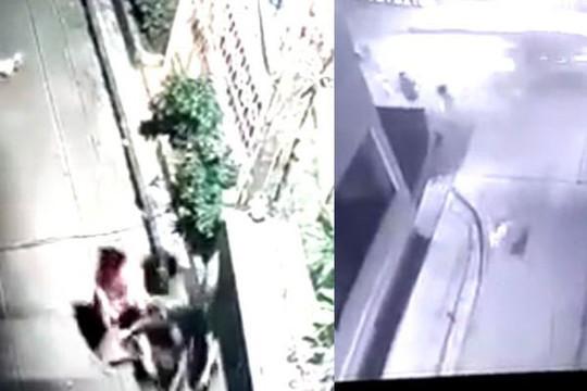 Clip cả nhóm nghịch chó, một thanh niên chạy ra đường bị ô tông chết