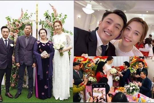 Người đẹp Đàm Thu Trang và Cường Đô La làm lễ ăn hỏi