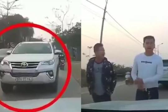 Lái ô tô chạy lấn làn, 2 gã công tử Vĩnh Phúc còn chặn đường đánh người