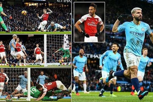 Hạ Arsenal, Man City dìu Man Utd vào top 5