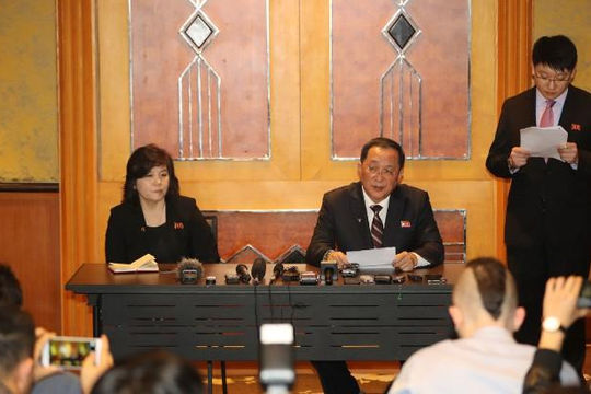Triều Tiên bất ngờ tổ chức họp báo giữa đêm