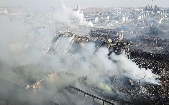 Hiện trường kinh hoàng vụ nổ nhà máy hóa học tại Trung Quốc