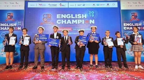 Tìm ra 5 quán quân tại chung kết English Champion 2019