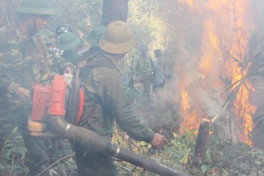 Hà Tĩnh: Cháy rừng vẫn bùng phát dữ dội, phải di chuyển cửa hàng xăng dầu