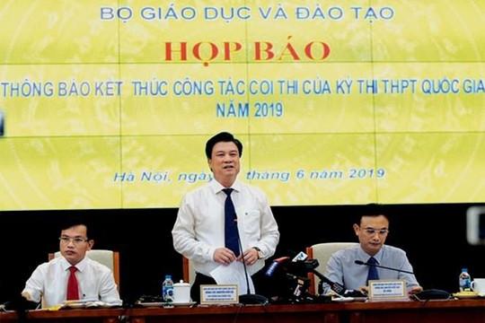 Bộ GD-ĐT sẽ công bố điểm thi THPT quốc gia 2019 vào ngày 14.7