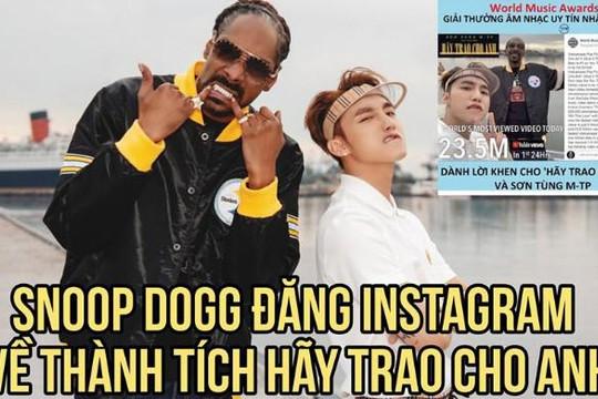 Thực hư vụ Sơn Tùng chi 10 tỉ đồng mời Snoop Dogg, 70 tỉ làm Hãy trao cho anh?