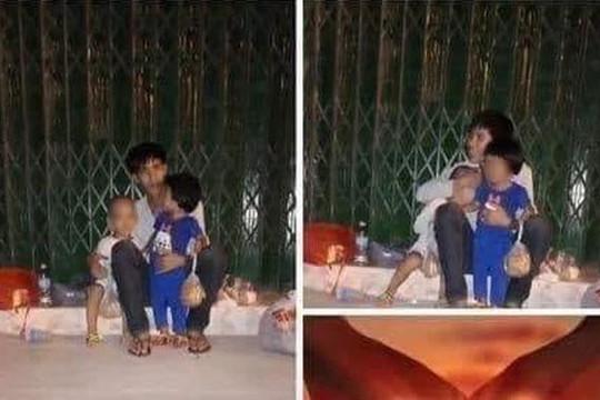 Bóc mẽ người cha nói không có tiền ở trọ, dắt 2 con đi ăn xin mỗi tối ở Nha Trang