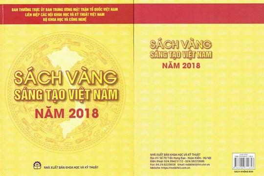 Nhiều công trình tiêu biểu được đưa vào 'Sách vàng Sáng tạo Việt Nam' 2019