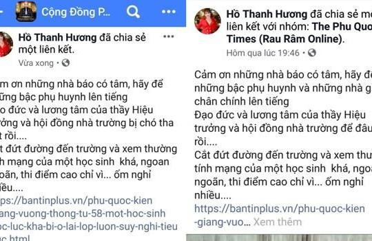 Phú Quốc: 'Á khôi doanh nhân' lên mạng xã hội xúc phạm một hiệu trưởng