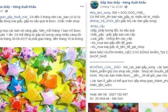 Fanpage lừa gấp 500 sao giấy có 500 ngàn: Nữ sinh khóc hận vì mất tiền, tốn công