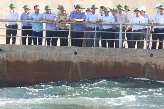 Bộ NN-PTNT kiểm tra hiện tượng nước đổi màu tại đập dâng thủy lợi Ngàn Trươi - Cẩm Trang