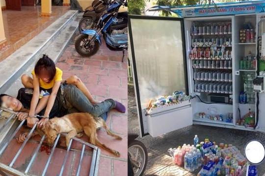 Cẩu tặc ngủ cạnh xác chó khi bị còng tay với bạn gái, máy bán hàng ở Quảng Trị bị phá