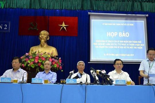 TP.HCM công bố tiến độ thực hiện kết luận của Thanh tra Chính phủ ở Thủ Thiêm
