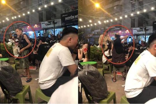 Xin tiền không được, gã cái bang gù lưng nhỏ ốm dọa đánh thanh niên cao to ở Hà Nội