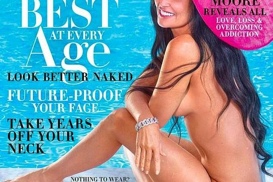 Demi Moore chụp ảnh khoả thân ở tuổi U.60