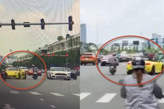 2 clip tài xế siêu xe Lamborghini đánh lái cực đỉnh tránh va chạm tổ lái ở TP.HCM