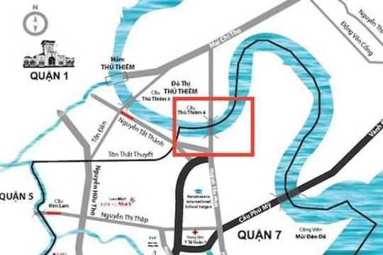 TP.HCM khởi động dự án cầu Thủ Thiêm 4 nối quận 7
