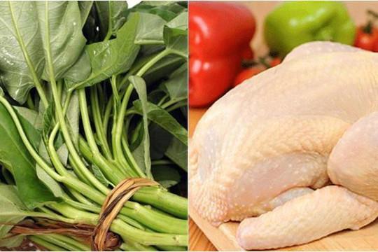 Giá thịt gà đang ngang bằng, thậm chí là rẻ hơn giá rau