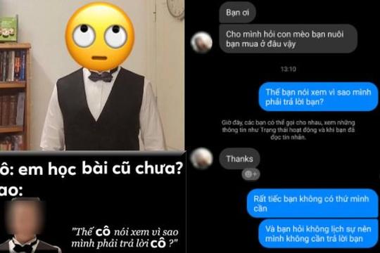 Miệt thị cô gái hỏi nơi bán mèo, gã trai Hà Nội khoe học ở Trung Quốc lên ảnh chế