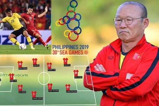 Cơn đau đầu dễ chịu của HLV Park Hang-seo khi Đình Trọng trở lại với U.22 VN