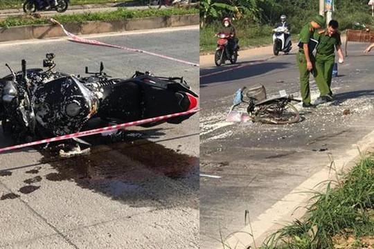 Phượt thủ chạy mô tô tốc độ cao tông chết cụ bà đạp xe bán đậu ở Tam Đảo