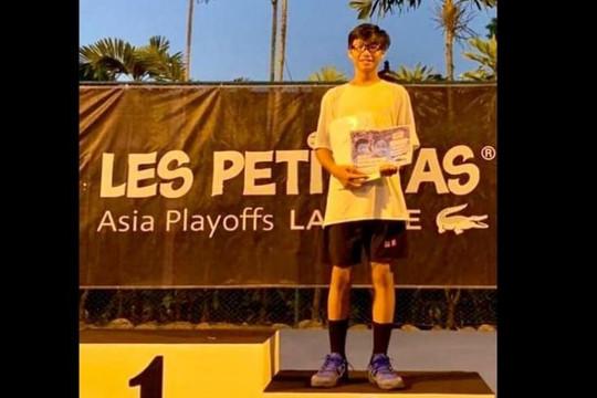 Nguyễn Hiếu Minh đoạt Á quân giải quần vợt Les Petit, giành vé dự VCK thế giới