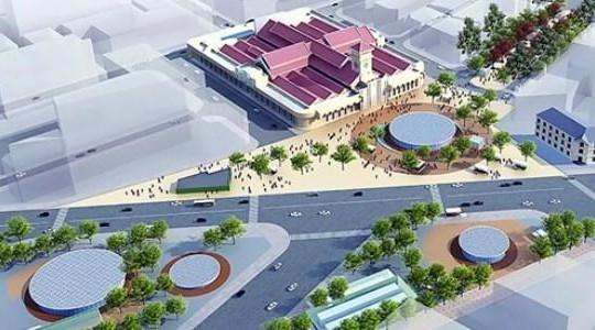 TP.HCM sẽ cải tạo vòng xoay chợ Bến Thành thành quảng trường
