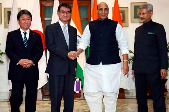 Nhật Bản - Ấn Độ tăng cường quan hệ an ninh nhằm đối phó với Trung Quốc