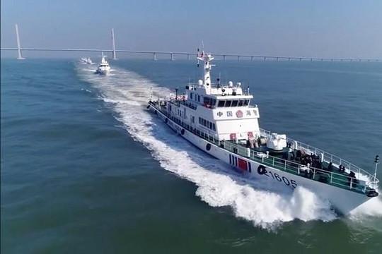 Cảnh sát biển Trung Quốc tuần tra gần Hồng Kông