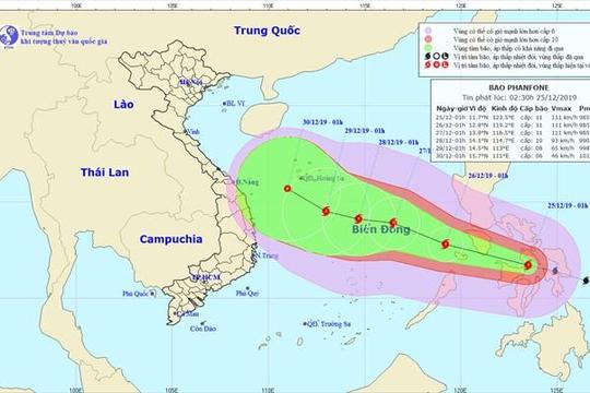 Trong vòng 24 giờ tới, bão có sức gió giật cấp 13 vào Biển Đông
