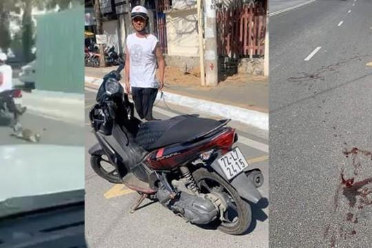 Clip gã đàn ông kéo lê con chó bê bết máu trên đường Vũng Tàu gây phẫn nộ