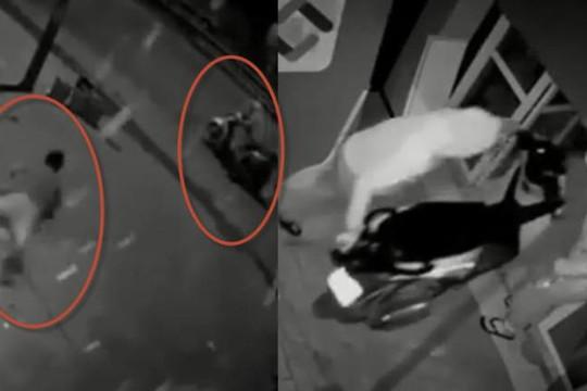 Clip 2 đạo tặc phá 2 lớp cửa, dắt SH ra đường nhưng bị chủ nhà đuổi kịp