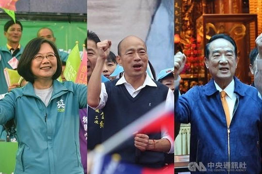 Hôm nay, người dân Đài Loan bầu nhà lãnh đạo nhiệm kỳ mới