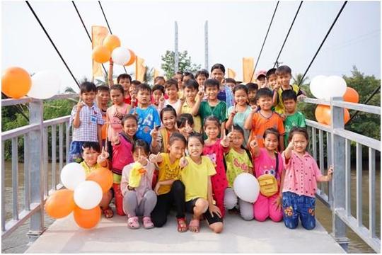 Masan đồng hành cùng chương trình 'Kiến tạo nhịp cầu' khánh thành cầu Khang Phúc