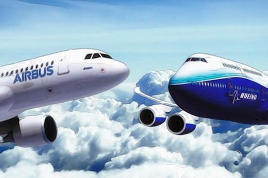 2019: Tổng đơn đặt hàng của Boeing giảm 77%, Airbus thì đạt kỷ lục mới