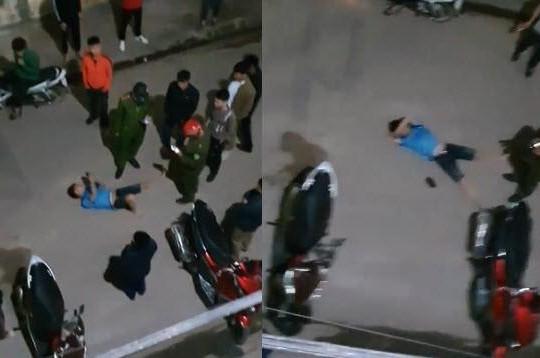 Clip gã trai nhậu say nói mất ví, nhảy từ tầng 2 quán gãy chân còn khoe với công an