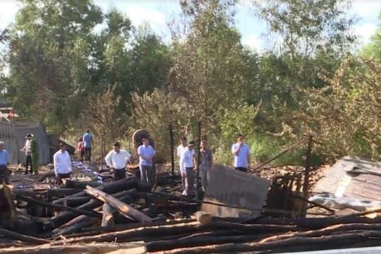 Cháy xưởng gỗ ở Cà Mau, thiệt hại hàng trăm triệu đồng