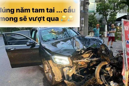 Ô tô tông chết tài xế GrabBike 65 tuổi, cô gái đi cùng dân chơi viết status 'Năm tam tai'