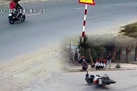 Clip quái xế vượt chốt, tông gãy chân đại úy CSGT ra giữa đường dừng xe