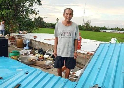 An Giang: Giông lốc làm 61 căn nhà tốc mái, xiêu vẹo