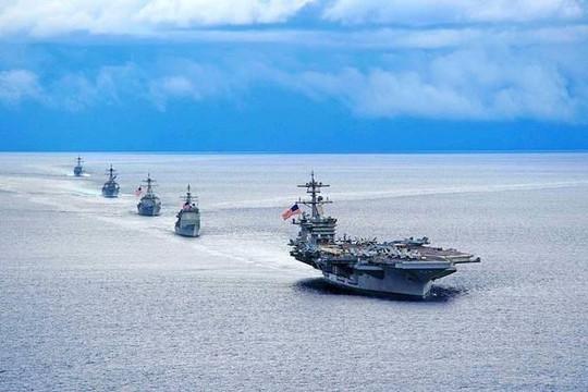 Mỹ điều cả 3 tàu sân bay tuần tra Thái Bình Dương để nhắc nhở Trung Quốc
