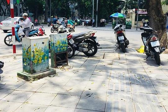 Những hình vẽ hoa lá 'mát mắt' trên những tủ điện ở Hà Nội