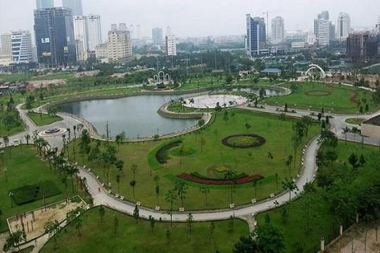 Xin xén đất công viên Cầu Giấy làm bãi đỗ xe, trung tâm thương mại