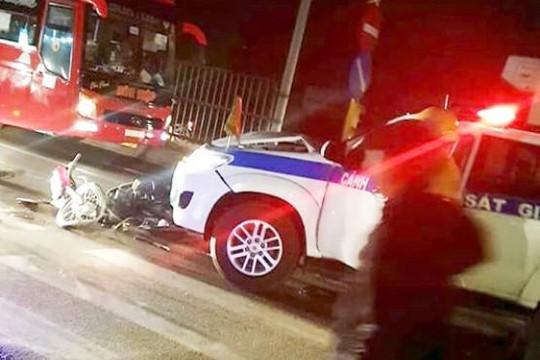 Vĩnh Long: Công an giải thích về clip 'xe CSGT gây tai nạn, bỏ chạy'