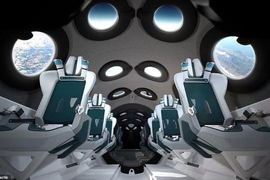Virgin Galactic tiết lộ nội thất tàu du lịch không gian SpaceShipTwo