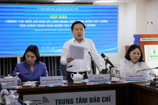 TP.HCM thông tin về hàng loạt sai phạm trong quản lý ngân sách