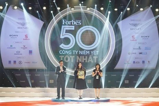 Vietjet lần thứ 3 liên tiếp lọt vào danh sách 50 công ty niêm yết tốt nhất Việt Nam của Forbes