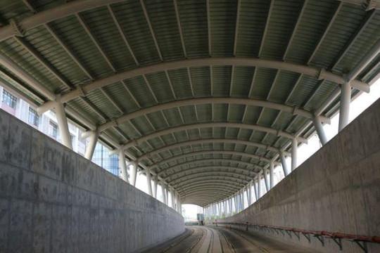 Ga ngầm Ba Son của tuyến metro số 1 đang dần thành hình