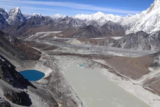 Thể tích các hồ hình thành từ sông băng tăng 50% trong 30 năm qua