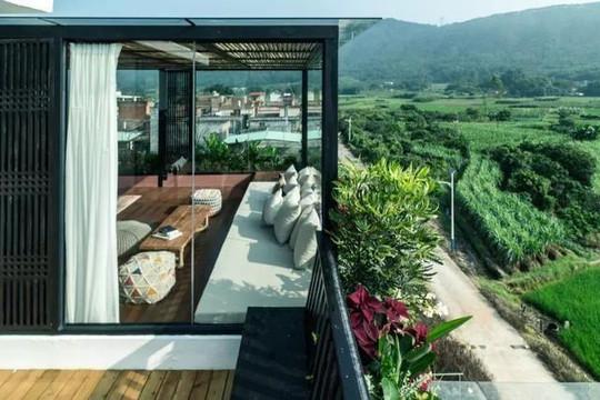 'Resort' giữa cánh đồng xanh mướt đẹp như mơ của 7 cô gái trẻ